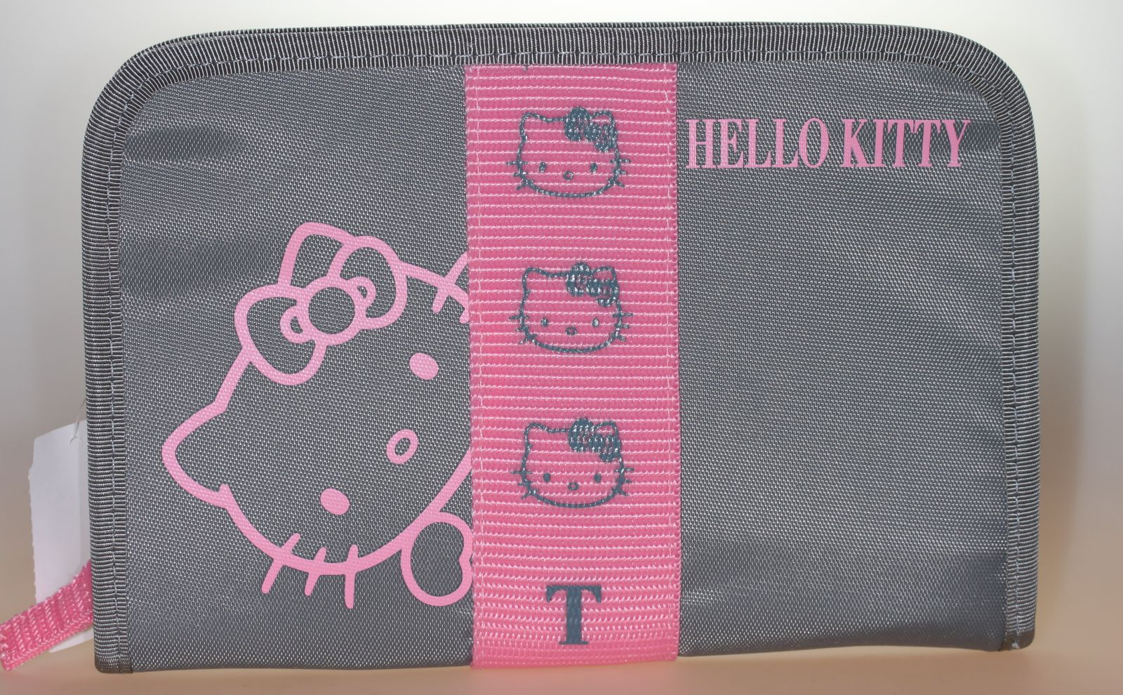 Hello Kitty Pass-Etui Face grau