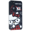 Hello Kitty iPhone 5 H�lle schwarz Nerd