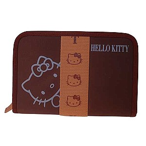 Hello Kitty Pass-Etui Face braun
