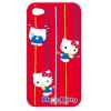 Hello Kitty iPhone 4 H�lle Rot PU
