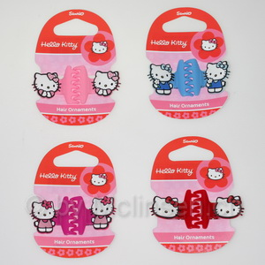 Hello Kitty Mizu Haarclip 4fach
