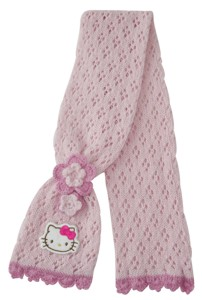 Hello Kitty Kinder Strickschal Flowers 4-5 Jahren