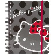 Hello Kitty Spiralnotizbuch 18cm in schwarz