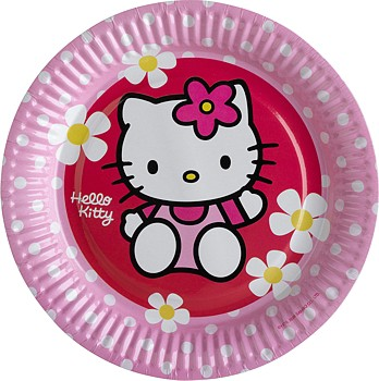Hello Kitty Pink Party Pappteller 18cm