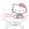 Hello Kitty M�nzbox Metall weiss Sitting