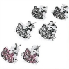 Hello Kitty Ohrstecker Glitter mit Strass Face assortiert