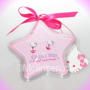 hello kitty schmuck star ohrstecker pink. Black Bedroom Furniture Sets. Home Design Ideas