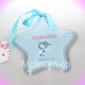 Hello Kitty Schmuck Star Ring blau