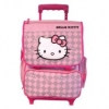 Hello Kitty Rollkoffer Rosa Grid 48cm