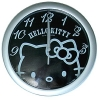 Hello Kitty Wanduhr Face schwarz