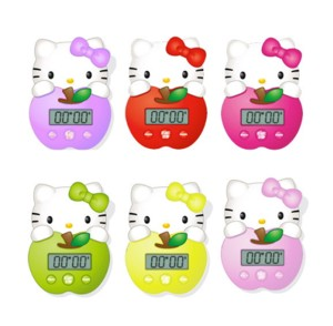 Hello Kitty Timer Digital Apple 8cm, assortiert