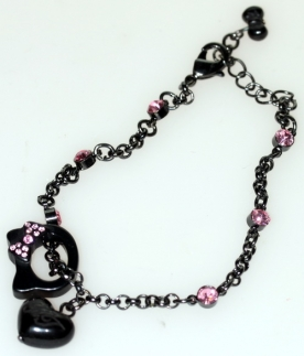 Hello Kitty Armband, schwarz