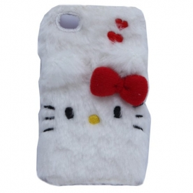 Hello Kitty I-phone 5 Hülle weiss BOA FACE
